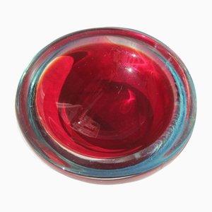 Petit Bol en Verre de Murano Rouge de Seguso, 1960s