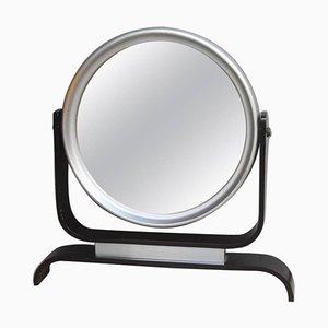 Espejo de mesa con marco de aluminio, años 60