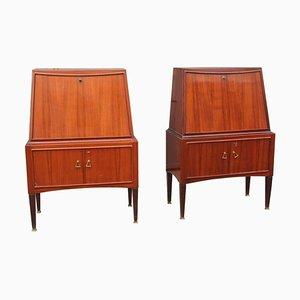 Mueble bar vintage de Paolo Buffa. Juego de 2