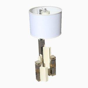Lámpara de mesa escultural de Gaetano Sciolari, años 70