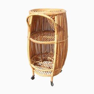 Mid-Century Barrel Bar Cart Cabinet from Bonacina