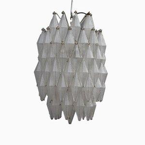 Lampadario Mid-Century in vetro di Murano poliedrico di Venini
