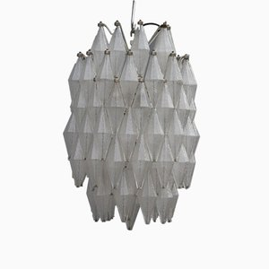 Mid-Century Murano Glass Polyhedron Chandelier from Venini