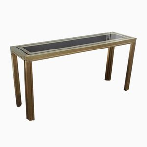 Gold and Satin Brass Table from Maison Mercier Freres, 1970s