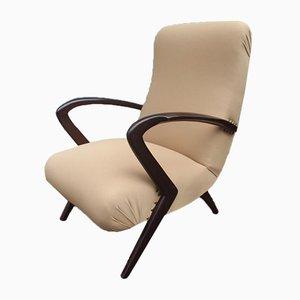 Moderne italienische Mid-Century Armlehnstühle, 2er Set
