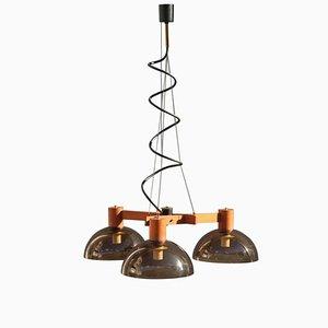 Lámpara de araña italiana Mid-Century de Esperia, años 50
