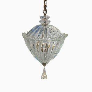 Lampe à Suspension en Verre de Murano de Seguso, Italie, 1940s