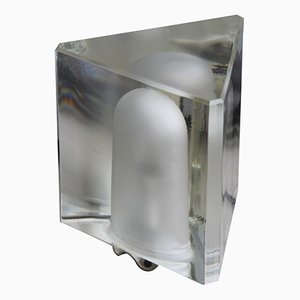 Glass Triangle Table Lamp by Alessandro Mendini for Fidenza Vetraria, 1960s