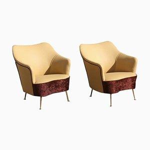 Italienische Mid-Century Sessel von ISA Bergamo, 2er Set