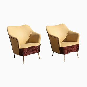 Mid-Century Italian Lounge Chairs from ISA Bergamo, Set of 2
