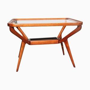 Tavolino da caffè Mid-Century in ciliegio di Dassi Lissone, anni '50