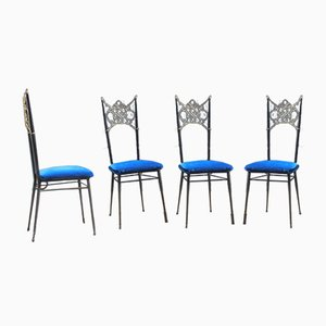 Chaises de Salon, Italie, 1950s, Set de 4