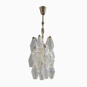 Lámpara de techo pequeña de cristal de Murano de Venini, años 60