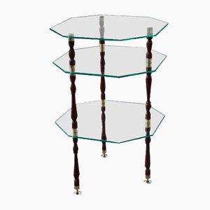 Mid-Century Glass & Brass Coffee Table, 1960s