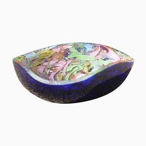 Cuenco de cristal de Murano de Avem, años 50