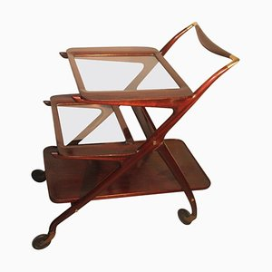 Mid-Century Mahogany Bar Trolley by Ico Parisi for De Baggis