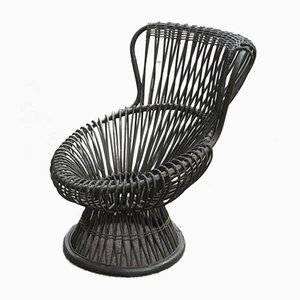 Mid-Century Stuhl aus Bambus von Franco Albini für Bonacina, 1950er