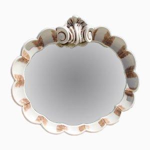 Baroque Style Ceramic Mirror, 1950s
