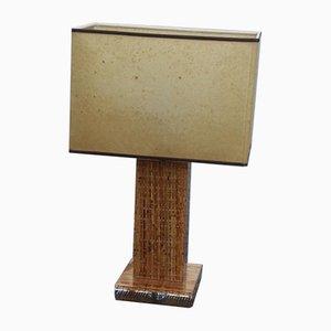 Lámpara de mesa de metacrilato y bambú de Botta Felice Antonio, años 70