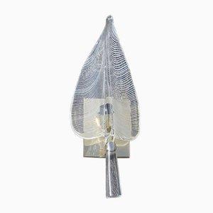 Apliques de cristal de Murano de Franco Luce, años 70