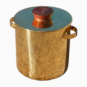 Brass and Rosewood Ice Bucket, 1950s