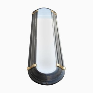 Large Art Deco Style Black & Gold Sconce, 1970s