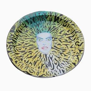 Plato italiano de cerámica, años 80
