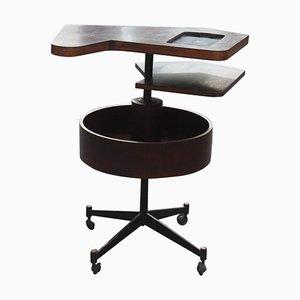 Mesa de bar de palisandro, años 50