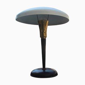 Lámpara de mesa Mid-Century moderna de latón