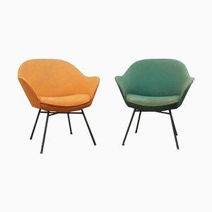 Moderne italienische Mid-Century Stühle, 1950er, 2er Set
