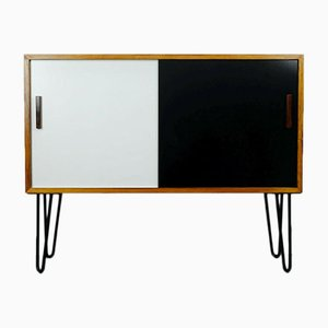 Small Rosewood Sideboard with Hairpin Legs & Sliding Doors, 1960s