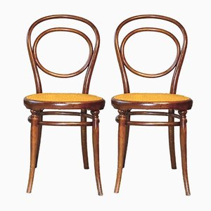 Antique N°10 Chairs by Michael Thonet, 1890s, Set of 2