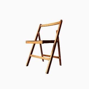 Silla plegable de madera, años 50