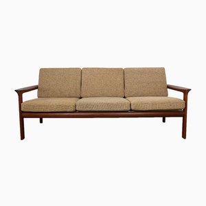Sofa mit Gestell aus Teak von Sven Ellekaer für Komfort, 1970er