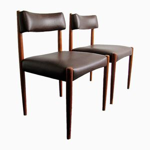 Rosewood Dining Chairs by Aksel Bender Madsen, 1960s, Set of 2