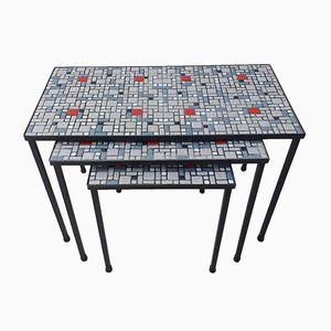 Tables Gigognes Modernistes en Céramique, 1960s