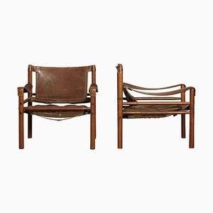 Sirocco Safari Chairs by Arne Norell for Norell Mobel, 1970s, Set of 2