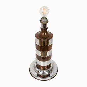 Tischlampe aus Chrom & Metall, 1970er