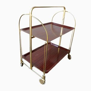 Gold Serving Bar Cart, 1970s