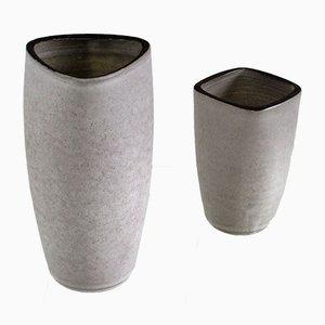 Jarrones holandeses de cerámica de Jaap Ravelli para Ravelli, años 50. Juego de 2
