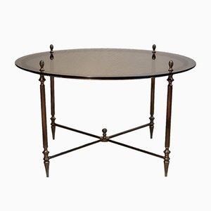 Table Basse Ronde Dorée de Maison Jansen, 1950s