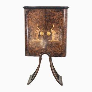 Mueble bar estilo Art Déco de Luigi Scremin, años 40