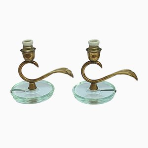 Vintage Italian Bedside Lamps, Set of 2
