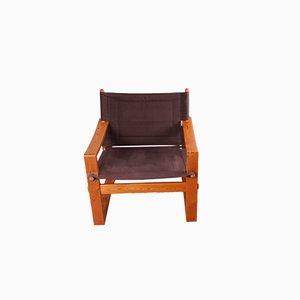 Vintage Safari Armchair by Børge Jensen for Bernstoffsminde Møbelfabrik