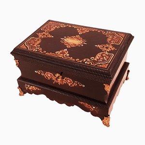 Große Napoléon III Schachtel mit Intarsien