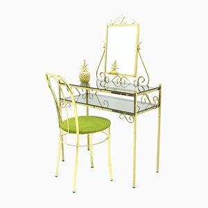 Vintage Frisiertisch und Stuhl von Ilse, 1970er