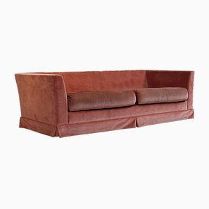 Pink Velvet Sofa from Dux, 1970s