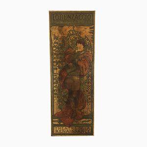 Lorenzaccio Poster by Alphonse Mucha, 1896