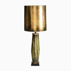 Lámpara alta de vidrio, años 50