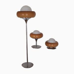 Lampes Mid-Century de Guzzini, 1970s, Set de 3